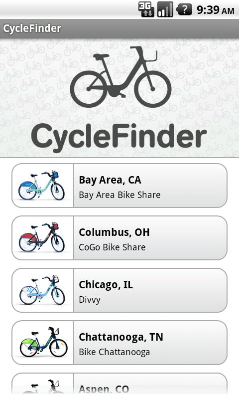 CycleFinder - screenshot