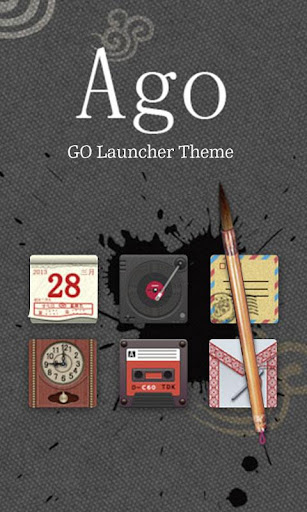 ago GO LAUNCHER THEME