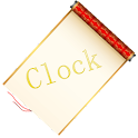 Scroll the World Clock widget logo