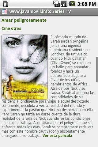 Películas online: captura de pantalla