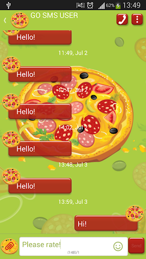 GO短信加强版比萨