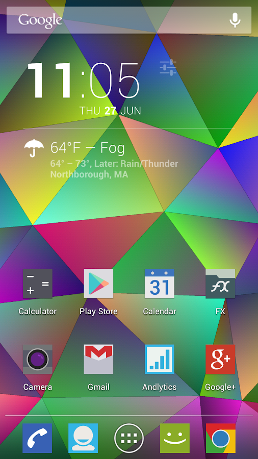 Nexus Triangles LWP Free - screenshot