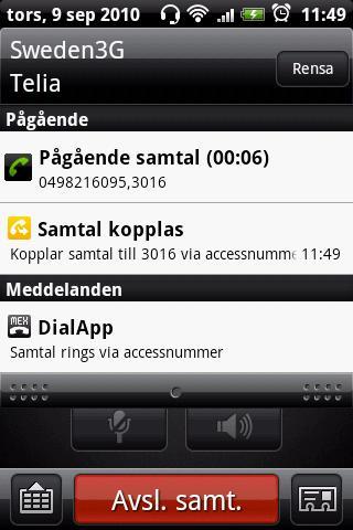 DialApp- screenshot
