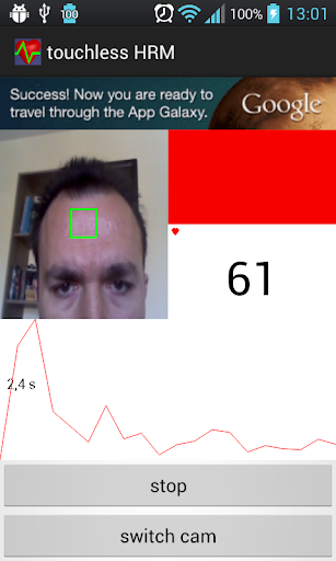 Touchless Heart Rate Monitor