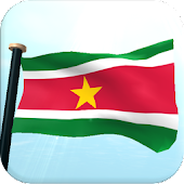 Suriname Flag 3D Free