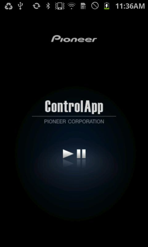 Pioneer ControlApp- screenshot
