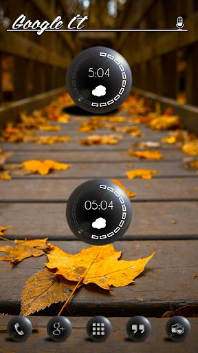 Black Globes Clock