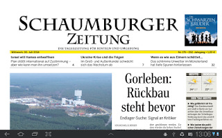 Screenshot of SZ e-Paper