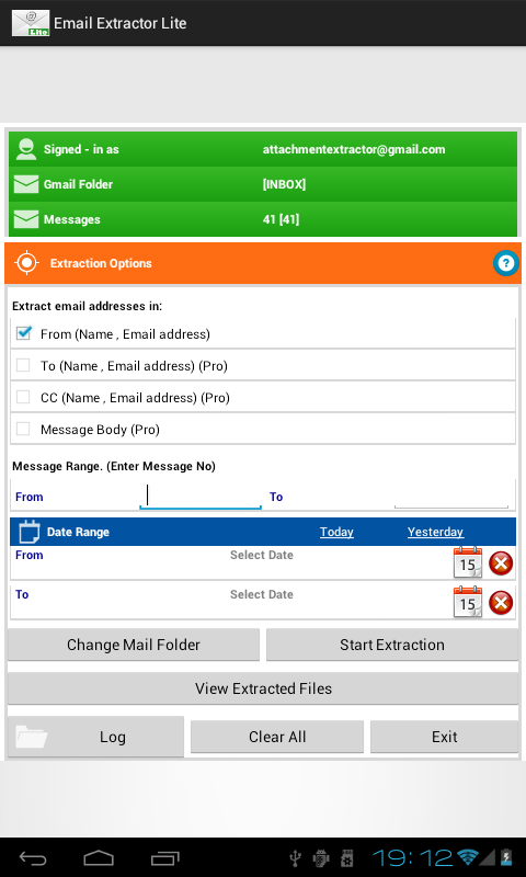 Email Extractor Lite- screenshot