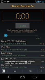 HD Audio Recorder - screenshot thumbnail