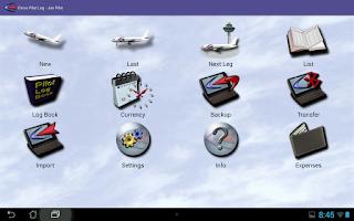 Screenshot of Cirrus Pilot LogBook