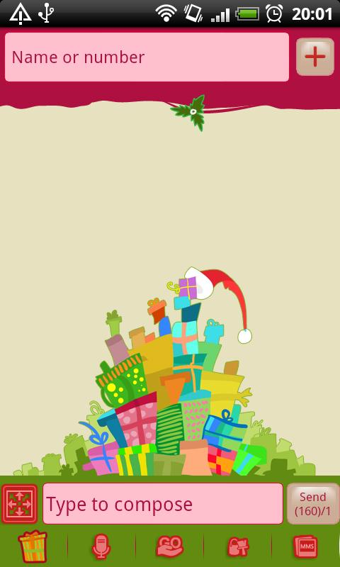GO SMS Christmas Gifts Theme- screenshot