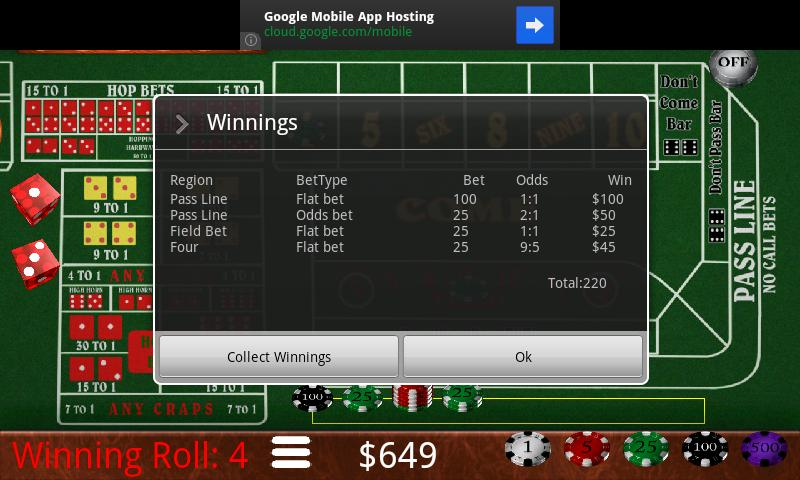Craps Trainer - screenshot