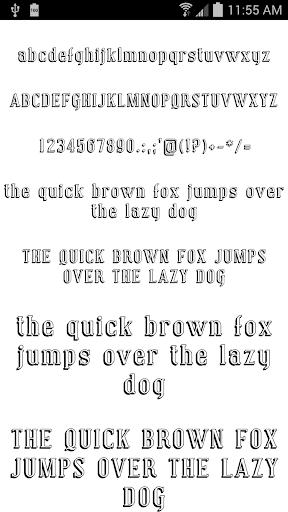 Fonts for FlipFont 50 8