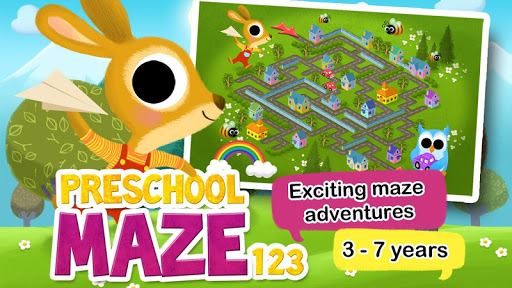 Preschool Maze for Kids HD