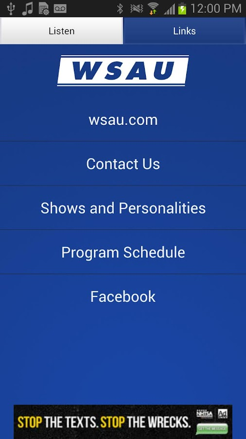 WSAU - 550 AM / 99.9 FM - screenshot