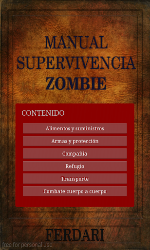 Manual de Supervivencia Zombie