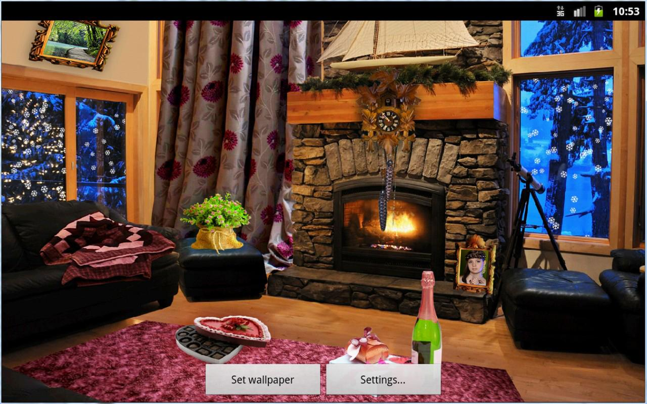 Romantic Fireplace LWP Full - screenshot