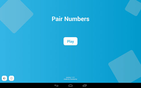 Pair Numbers for Kids