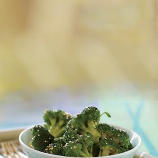 Sesame-Ginger Steamed Broccoli.