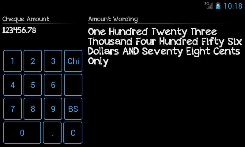 Cheque Wizard- screenshot