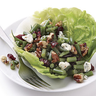 Haricots Verts Salad with Pecans and Blue Cheese.