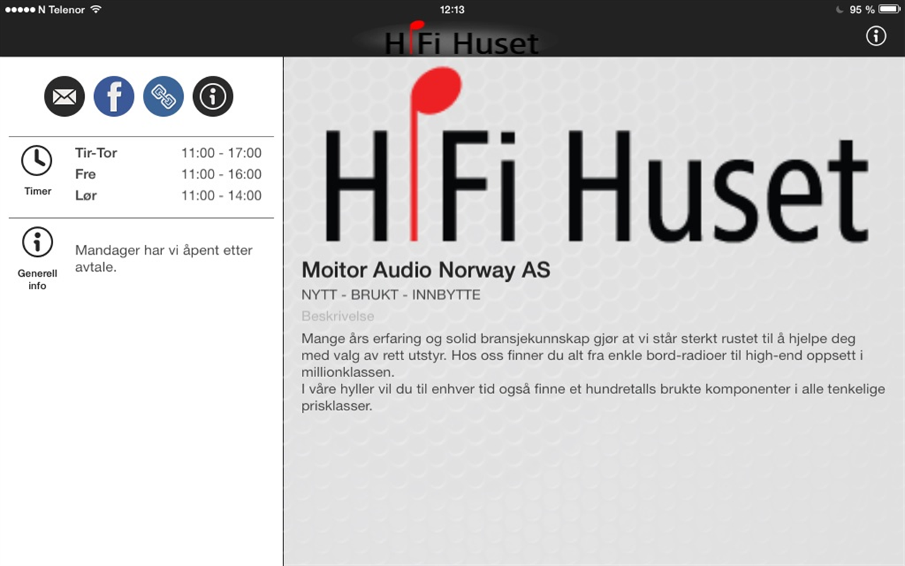 HiFi Huset- screenshot