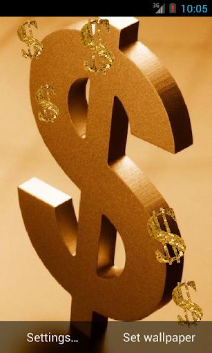 Golden Dollar Live Wallpaper
