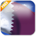 3D Qatar Flag icon