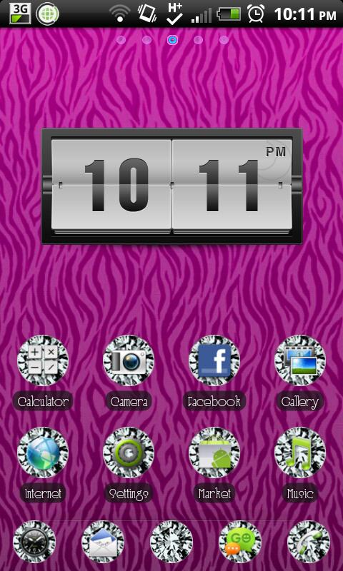 THEME - Zebra Diamonds - screenshot