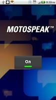 Screenshot of MotoSpeak