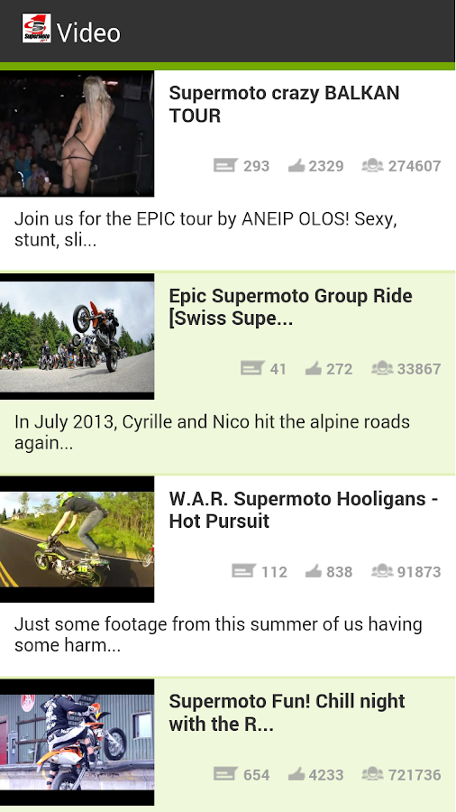 Supermoto Videos - screenshot