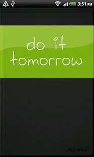 Do it (Tomorrow)- screenshot thumbnail