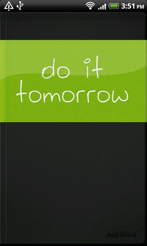 Do it (Tomorrow) - screenshot