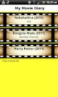 Screenshot of My Movie Diary