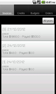 Invoice star LITE screenshot