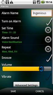 Ingenious Alarm - screenshot thumbnail