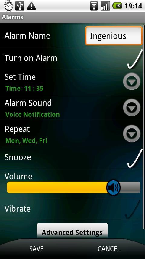 Ingenious Alarm - screenshot