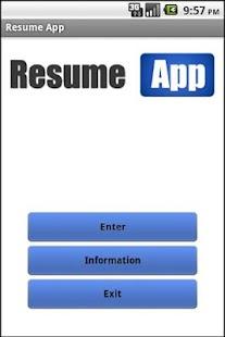resume apps