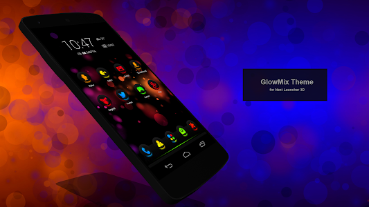 Next Launcher Theme GlowMix v1.1