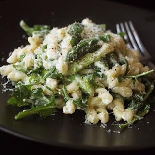 Gemelli with Asparagus, Ricotta, Arugula, and Lemon Zest