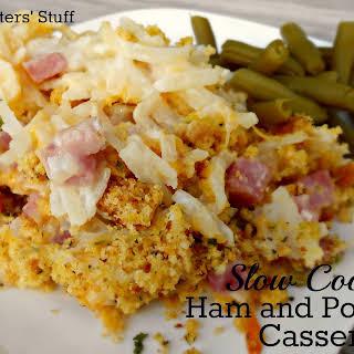 Slow Cooker Ham and Potato Casserole.