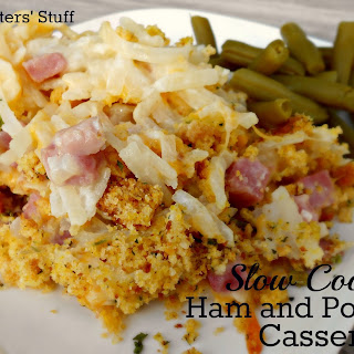 Slow Cooker Ham and Potato Casserole.