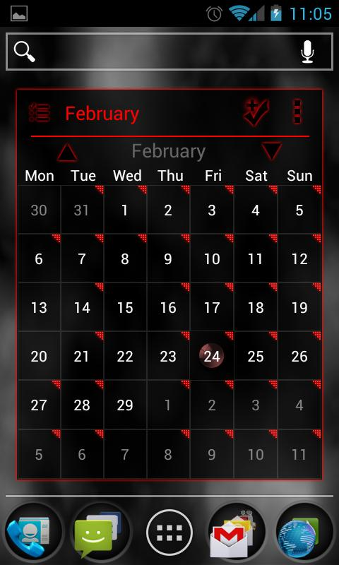 APW Theme BloodRed ICS - screenshot