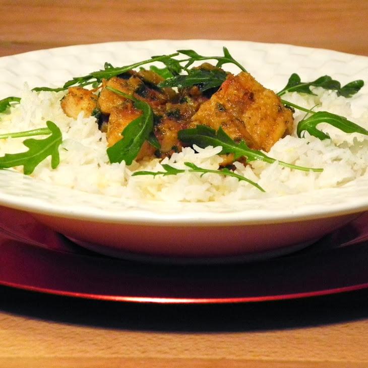 Catfish Curry With Basmati Rice
