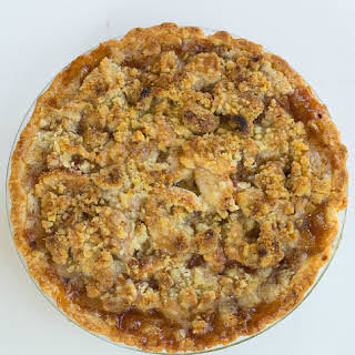 Maple-Apple Pie with Walnut Crumble Topping.