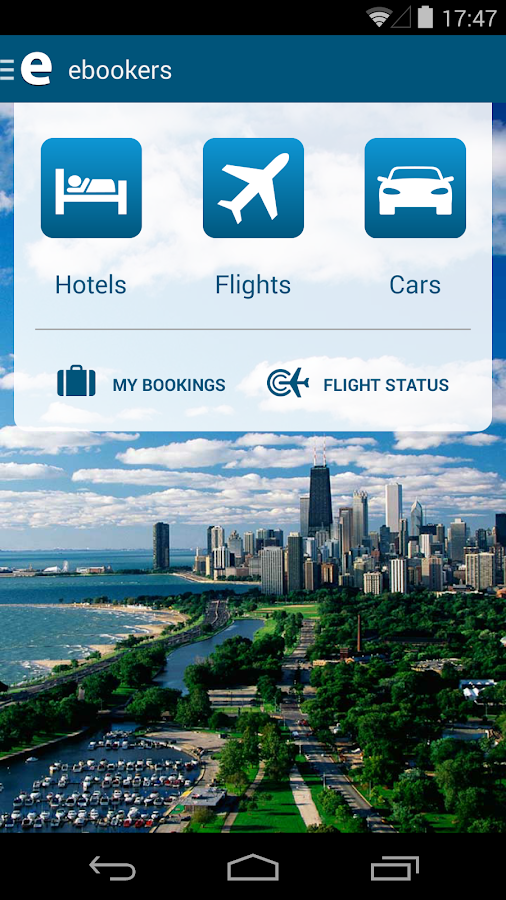 ebookers: Hotel, Flights, Cars - screenshot