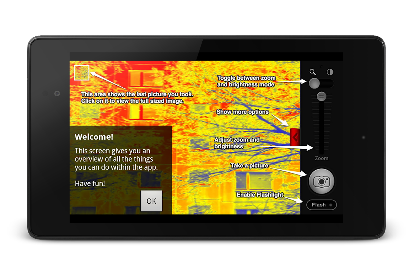 Thermal Vision Camera - screenshot