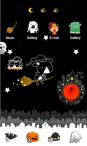 CUKI Themes Cute Cat Witch