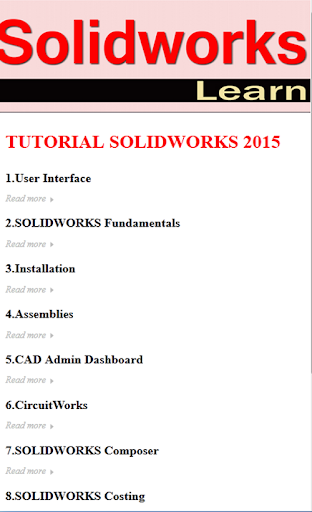 Learn SolidWorks 2015 Tutor
